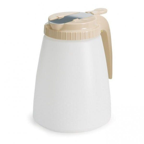 48 oz. Plastic All Purpose Dispenser w/ Almond Lid