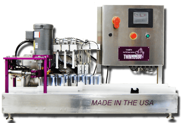 Twin Monkeys' Yampa Can filler sold by Twin Monkeys Beverage Systems
