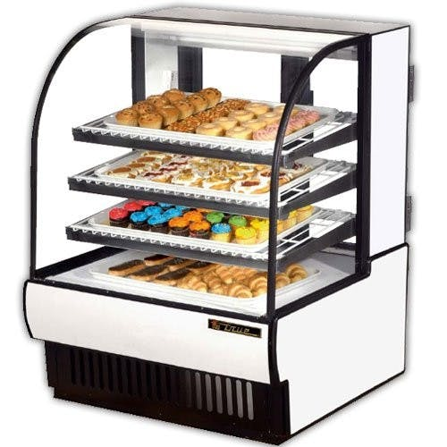 True Manufacturing TCGD-36 Curved Glass Non-Refrigerated Dry Bakery Case, 37 Inch Food display case sold by Mission Restaurant Supply