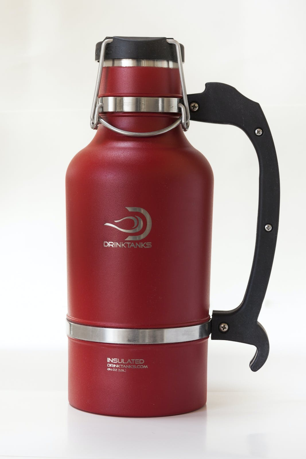 Drink Tanks Growler - Enjoy beer exactly as it was intended. Cold. Fresh. Carbonated. - 64oz Capacity (Red) Growler sold by Drink Tanks