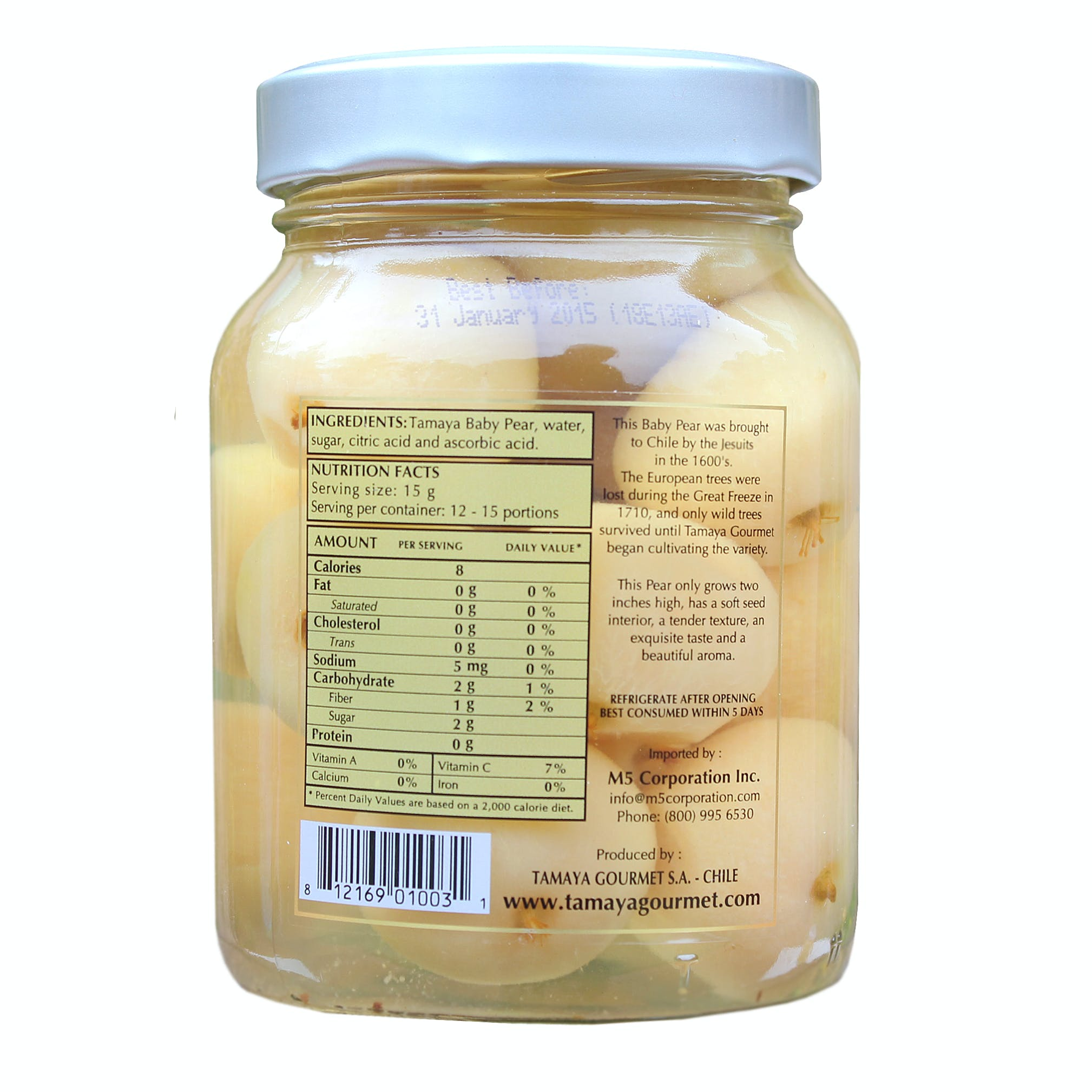 Chilean Wild Baby Pears From Tamaya, 16 Ounces - sold by M5 Corporation
