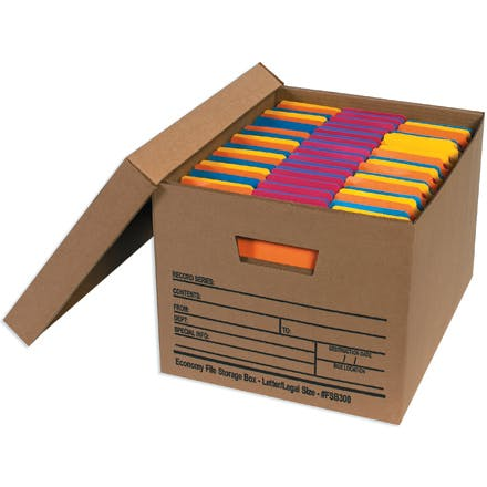 Economy File Storage Kraft Boxes with Lids Kraft packaging sold by Ameripak, Inc.