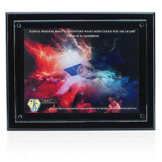 Floating Glass Award Plaque by Jaffa® Award sold by Distrimatics, USA