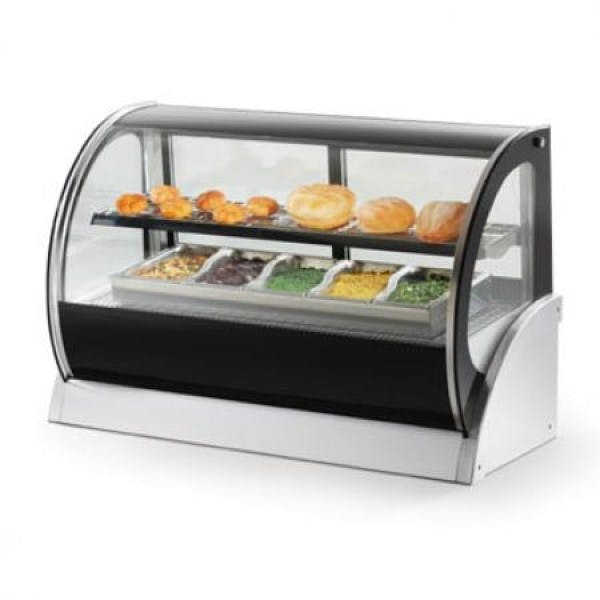 "60"" Curved Glass Countertop Refrigerated Display Cabinet"