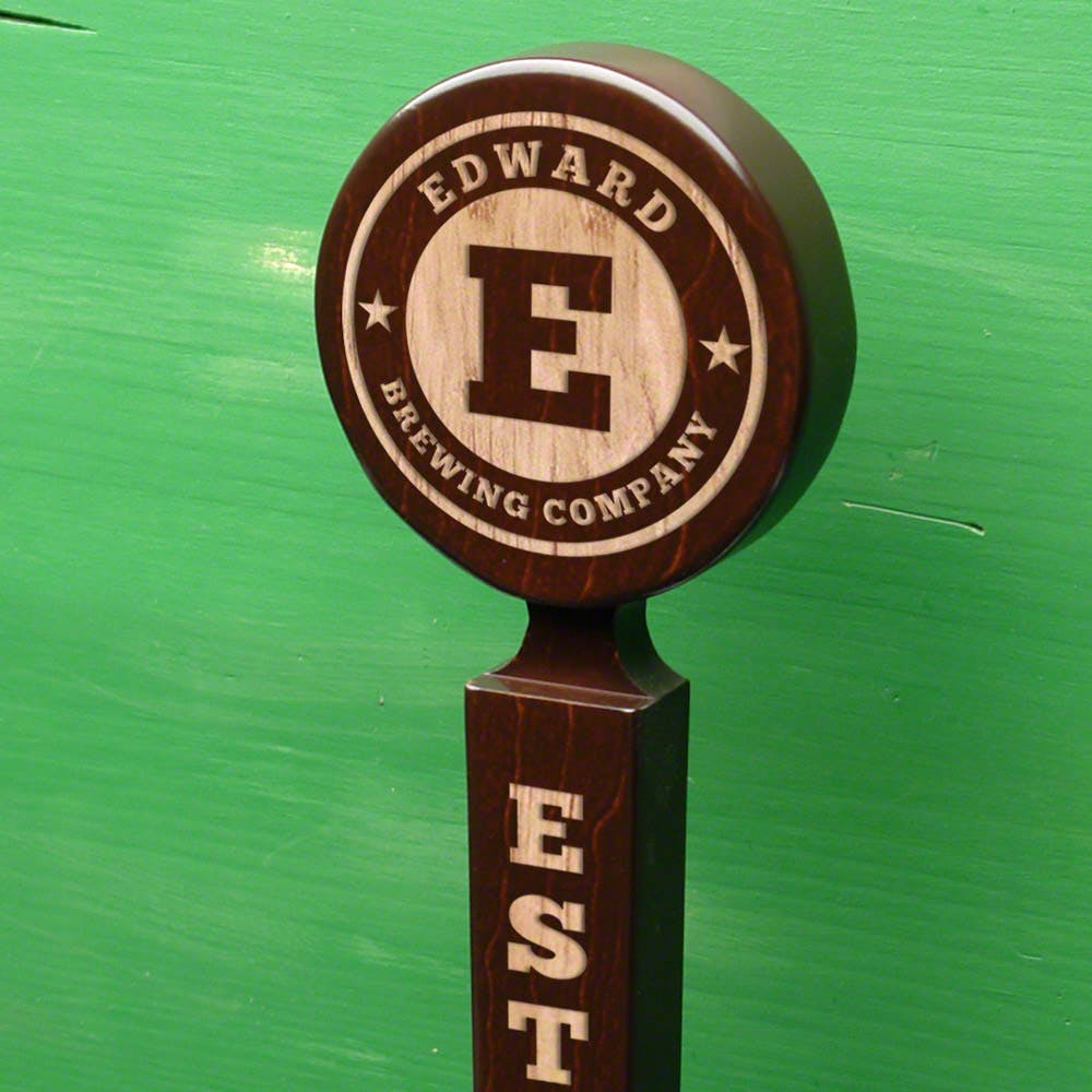Stained Maple Beer Tap Handle - sold by HomeWetBar.com