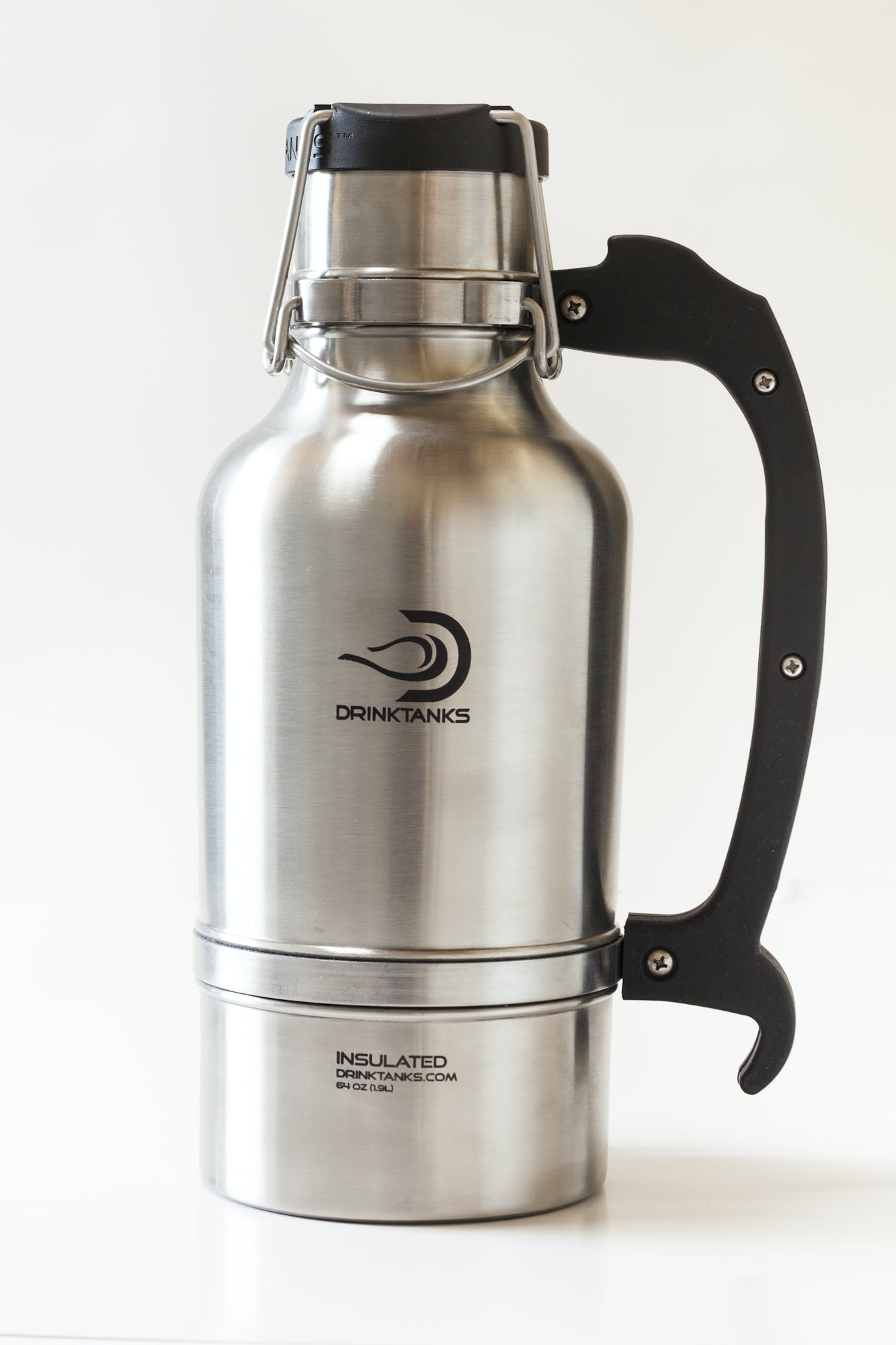 DrinkTanks Growler (steel) - Enjoy beer exactly as it was intended. Cold. Fresh. Carbonated. (Steel) Growler sold by Drink Tanks