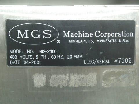 Used MGS HIS-2400 Fully Automatic Case Packer - sold by Sigma Packaging