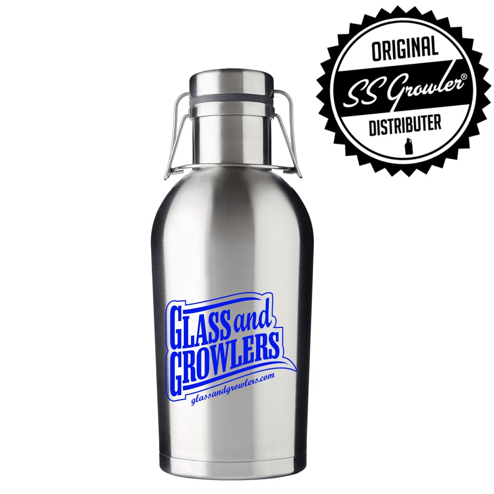 32oz Double Wall SS Growler Growler sold by Glass and Growlers
