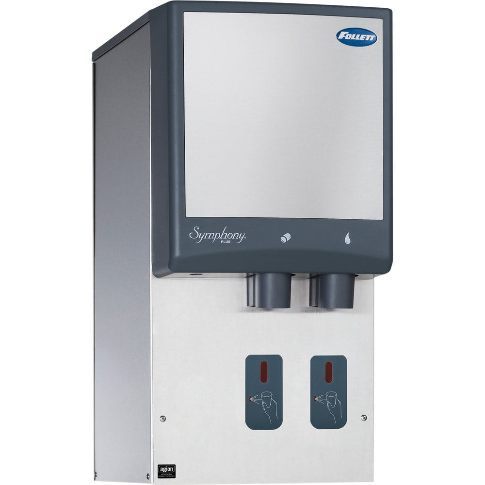 Follett 12HI425A-S0-00 12 Series Air Cooled Wall Mount Ice and Water Dispenser - 12 lb. Storage Ice machine sold by WebstaurantStore