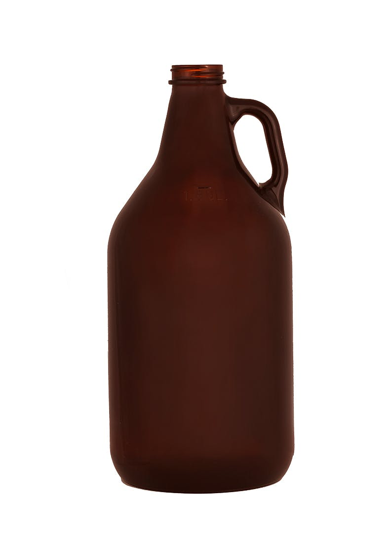 64 oz Beer Growler, Twist, Amber (C1010) Growler sold by WP Bottle Supply