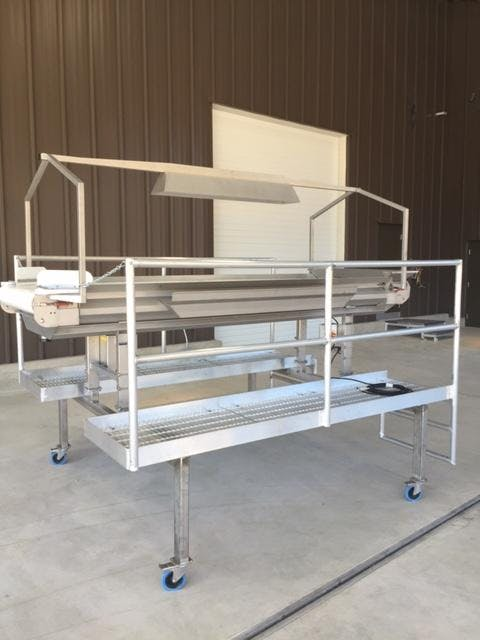 Grape Selection table Platform Grape sorting table sold by Pacific Winemaking llc