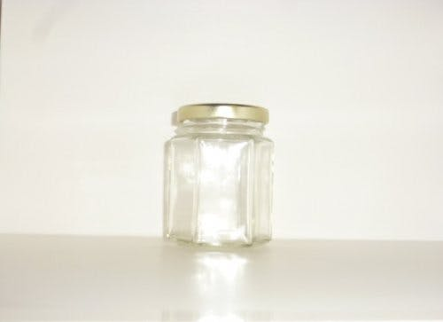 190ml Hex Jar - Hex glass jars - sold by Cape Bottle Company, Inc.