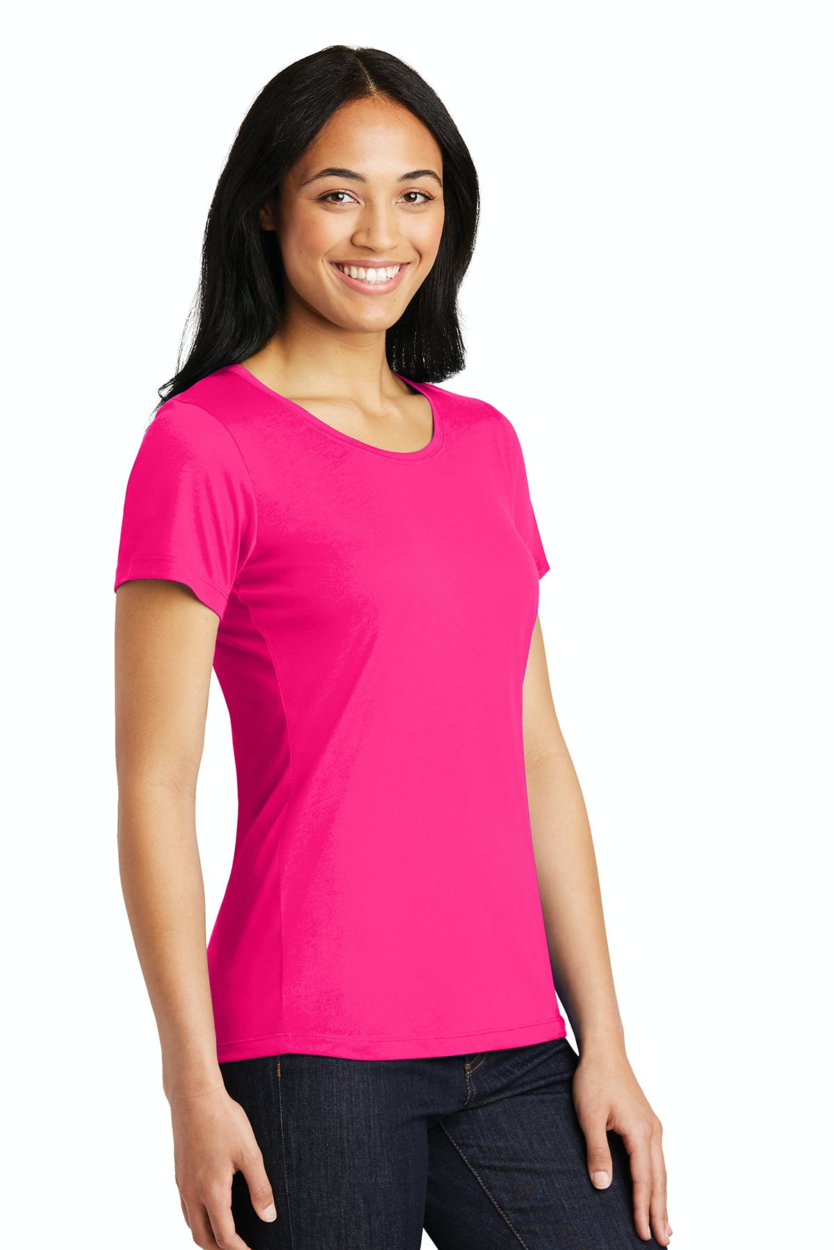Sport-Tek®   Ladies PosiCharge®  Competitor™  Cotton Touch™  Scoop Neck Tee - sold by PRINT CITY GRAPHICS, INC