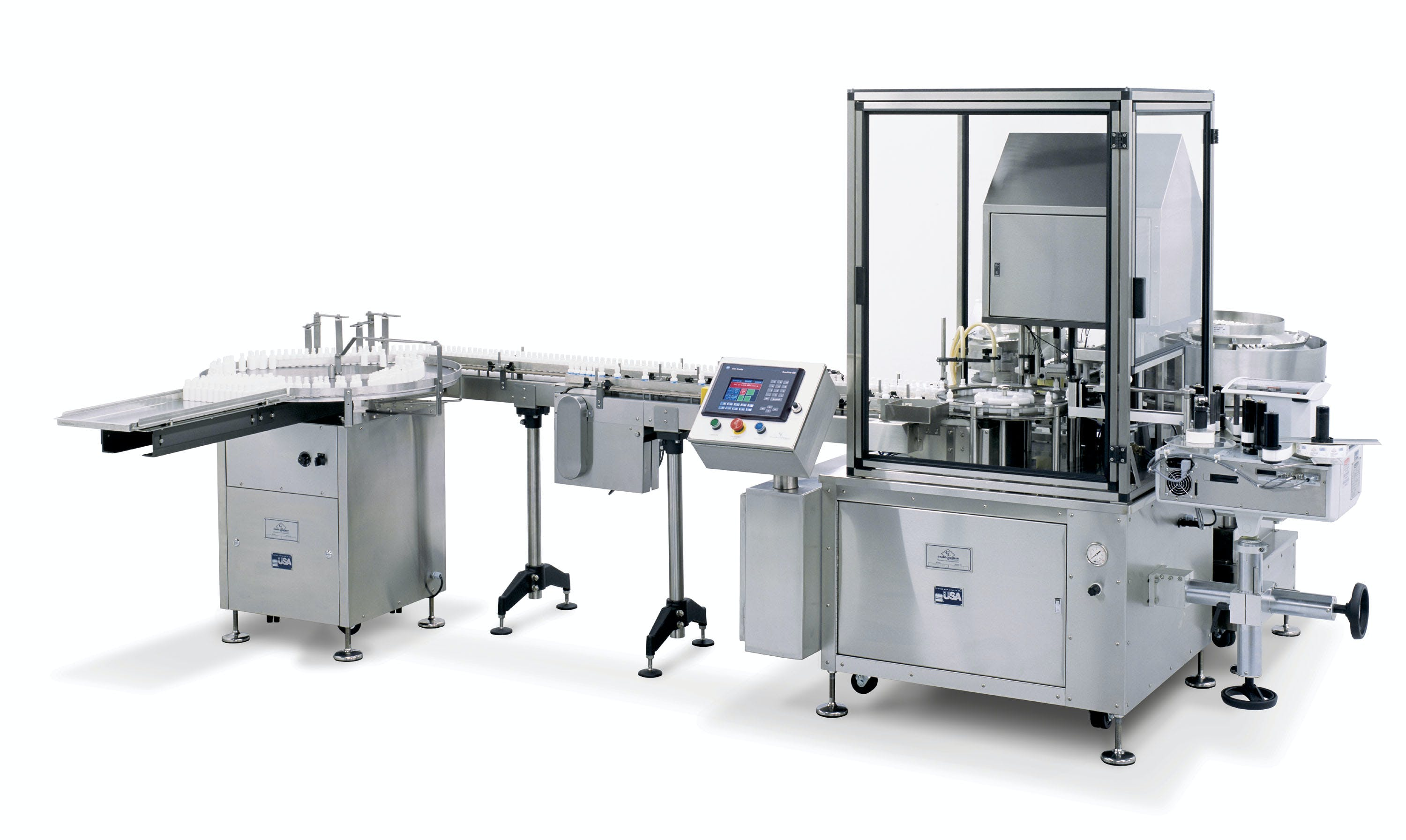 Filling, plugging and capping machine - Filling Plugging and Capping - sold by Chase-Logeman Corporation