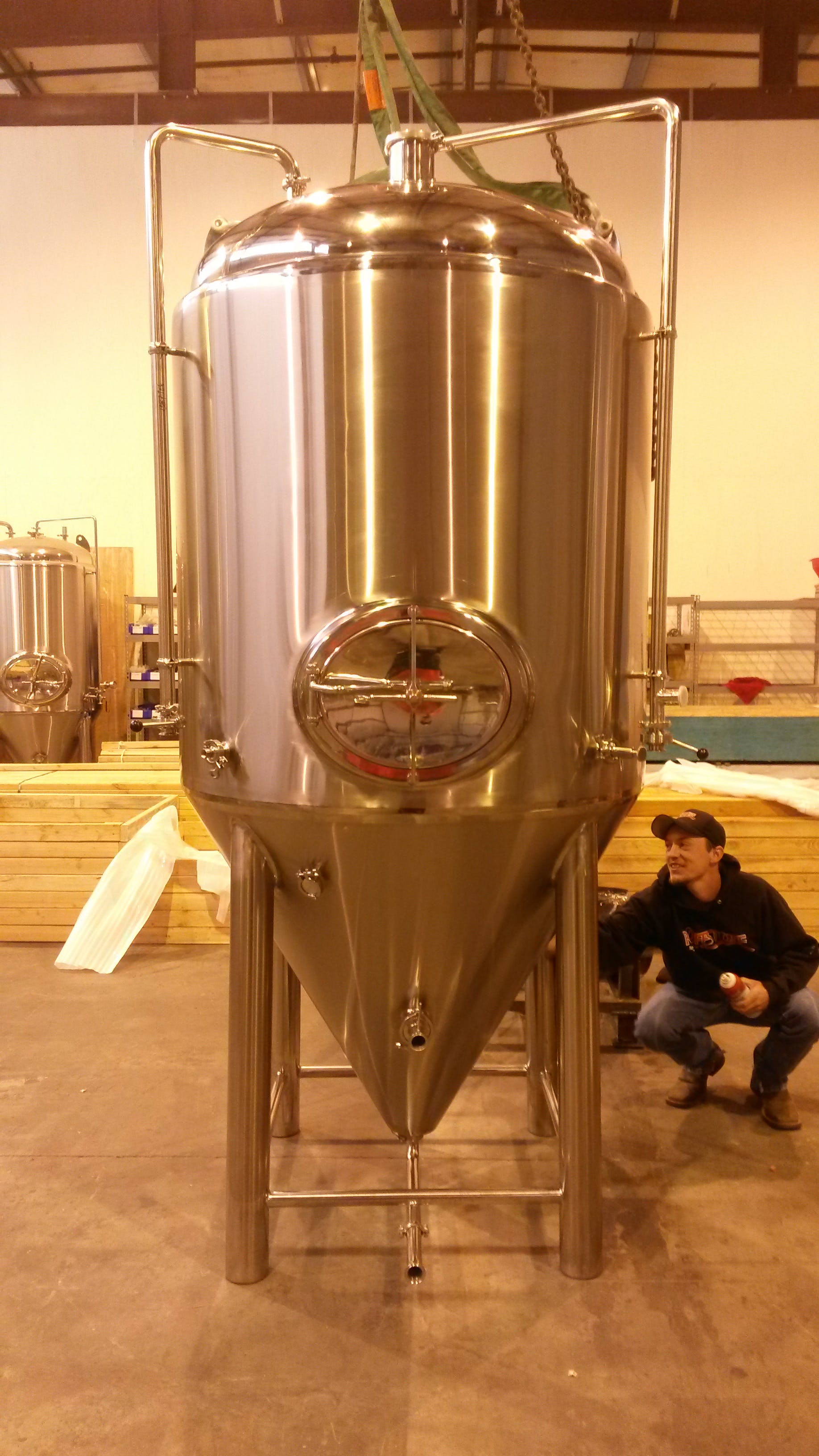 15bbl jacketed fermenter/uni-tank - 15bbl fermenter - sold by Apex Brewing Supply