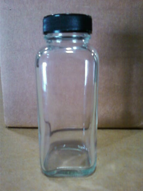 33/400 4 oz French square glass bottle Glass bottle sold by Inmark Packaging