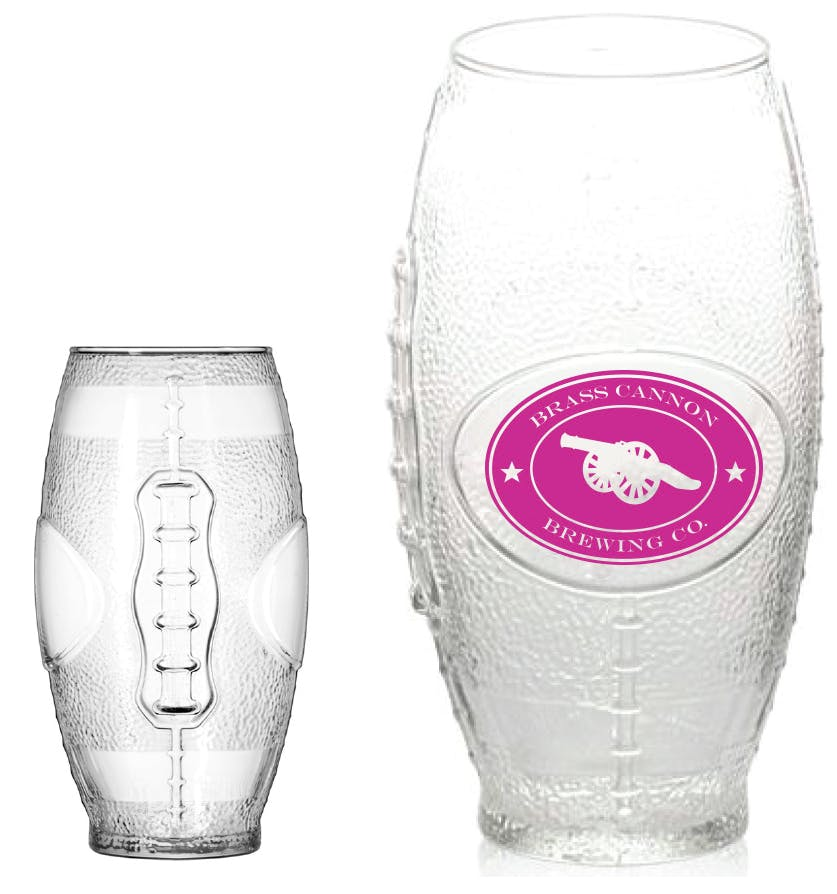 23oz. Football Shaped Glass Beer glass sold by Prestige Glassware