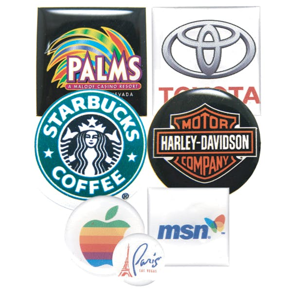 Square/ Circle/ Oval Domed Labels (Item # ZDMOL-FQPWM) Promotional sticker sold by InkEasy
