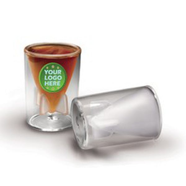 Bombs Away Double Wall Frosted Shot Glass Shot glass sold by Luscan Group