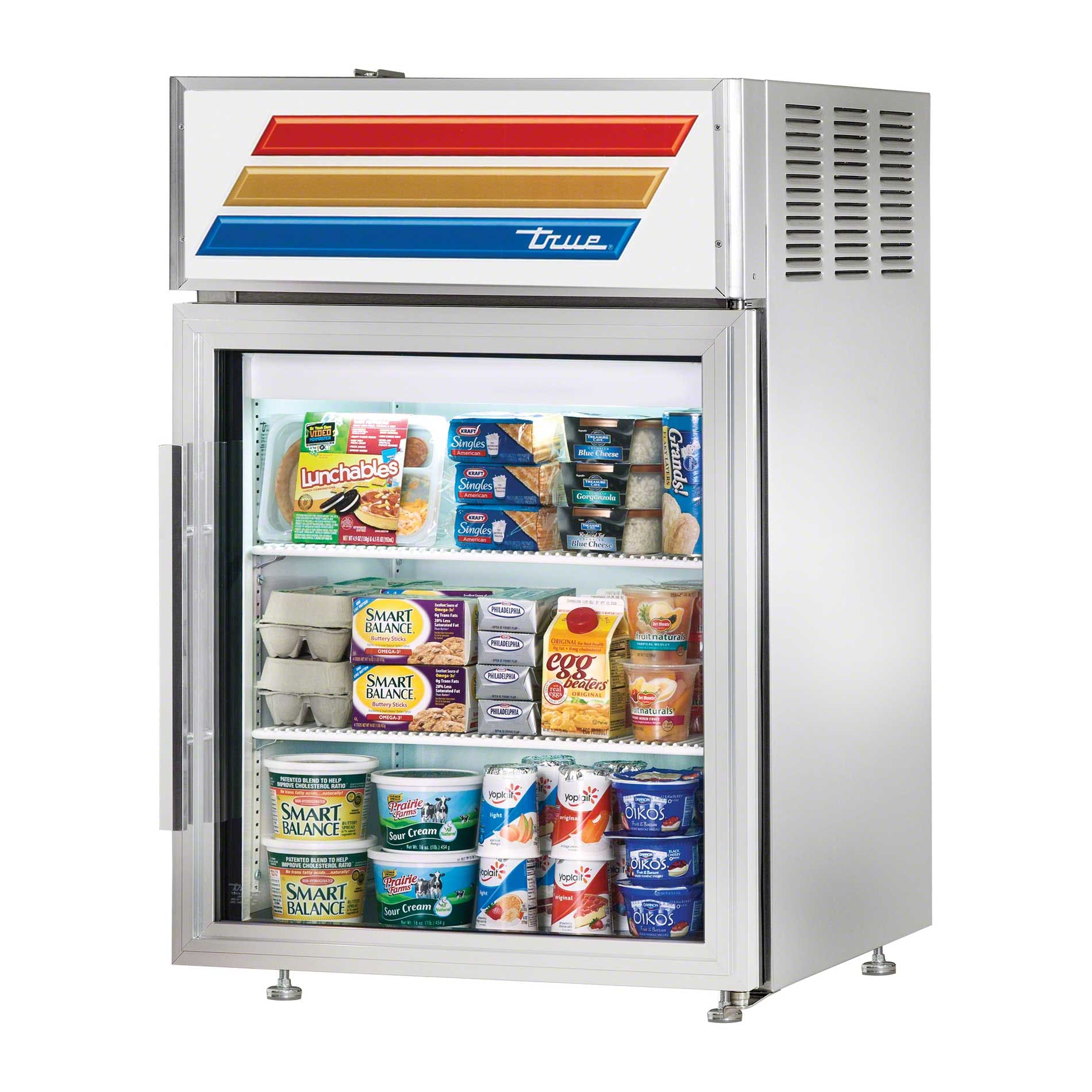 "True - GDM-5-S-LD 24"" Countertop Glass Door Merchandiser Refrigerator LED Commercial refrigerator sold by Food Service Warehouse"