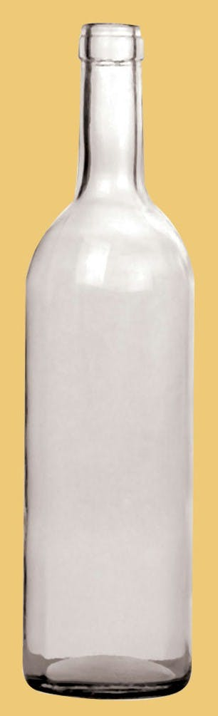 Bordeaux Style, Model #CW-029, 750 ML, Flint (Clear) Wine bottle sold by Gino Pinto INC