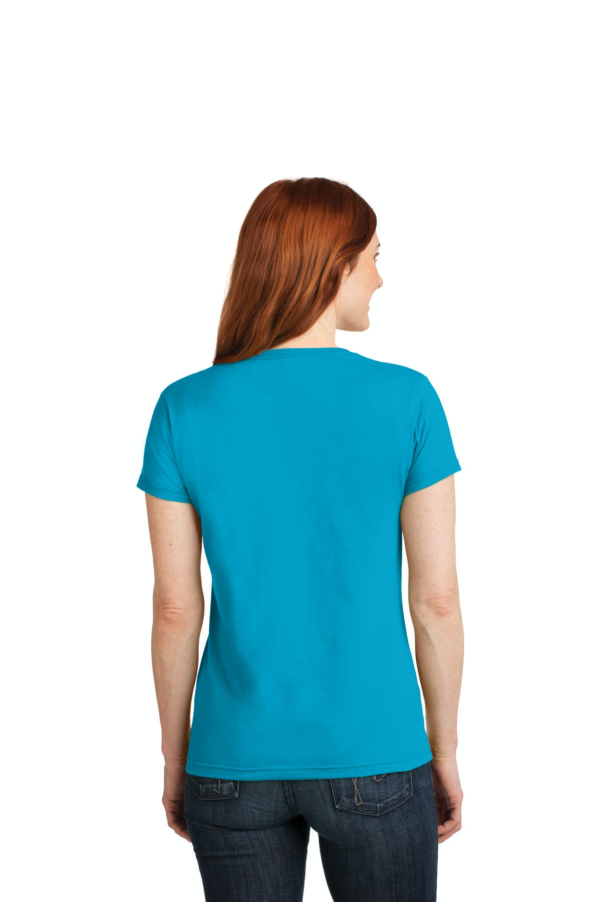Anvil® Ladies 100% Combed Ring Spun Cotton V-Neck T-Shirt - sold by PRINT CITY GRAPHICS, INC