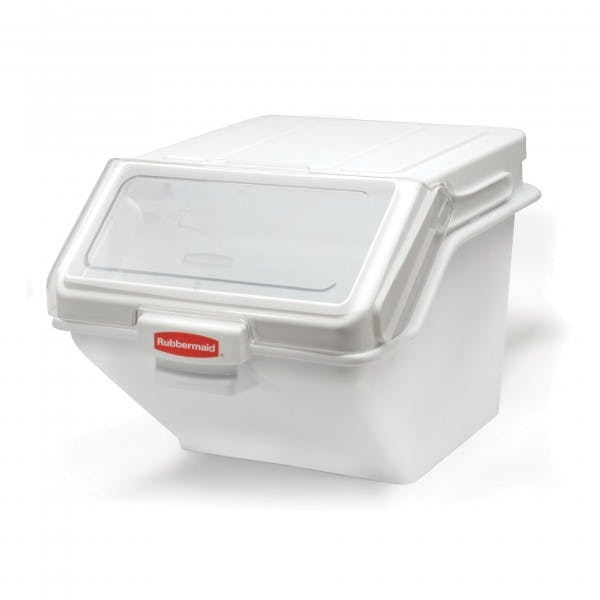 200 c. White Plastic Ingredient Safety Storage Bin