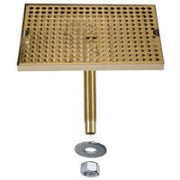 "DP-820DSSPVD-12- 12""L x 8""W Stainless Steel Drip Tray with PVD Grid Drip tray sold by Beverage Factory"