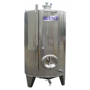 Jacketed White Fermenter Wine tank sold by GW Kent