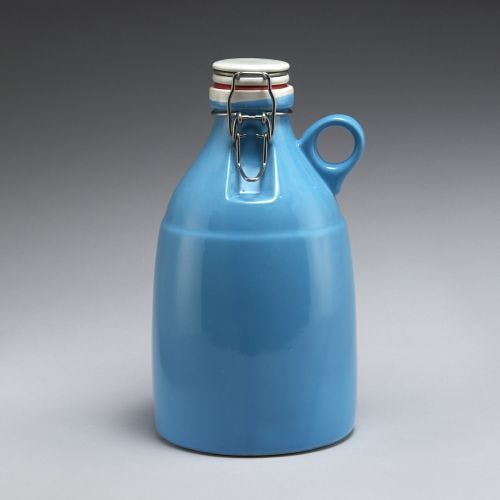 The Loop - Gloss Blue 64oz Growler sold by Portland Growler Company