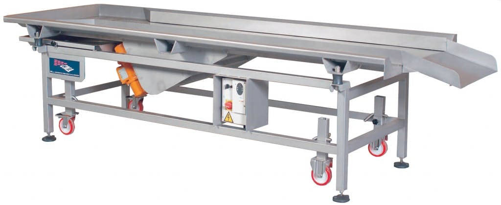 C.M.A. SV800 x 2.5 Grape sorting tables Grape sorting table sold by Prospero Equipment Corp.