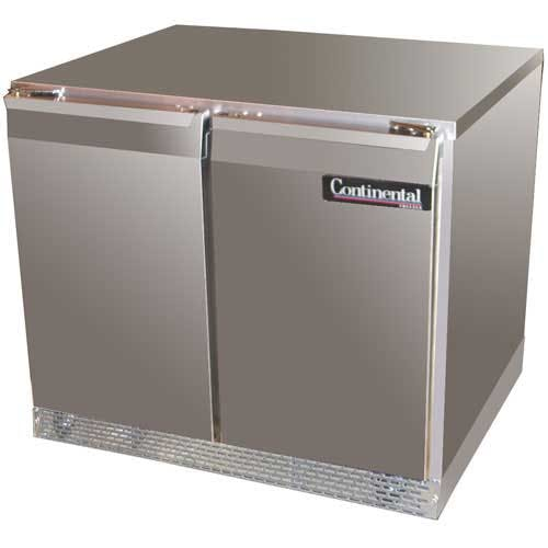 "Continental Refrigerator ( DLUCF36-SS ) - 36"" Undercounter Freezer Commercial freezer sold by Food Service Warehouse"