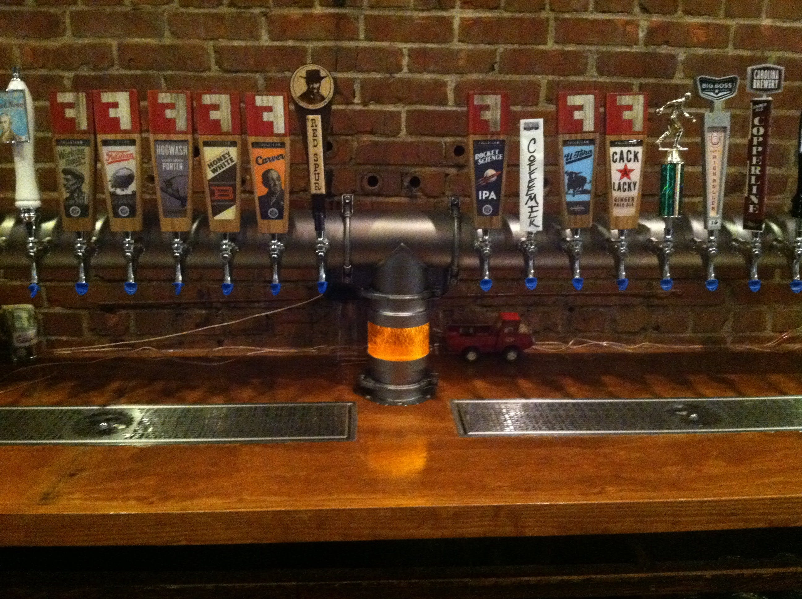 "Custom Tower with ""Divine Ale-umination Chamber"" Draft beer system sold by Divinity Beer System"