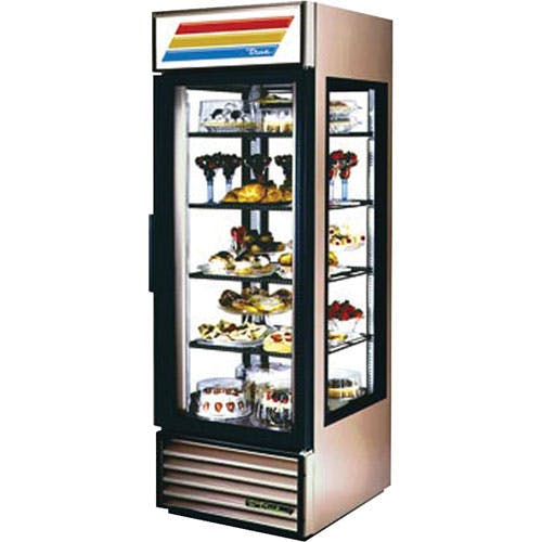 "True - G4SM-23 28"" Glass Four Sided Merchandiser Refrigerator Commercial refrigerator sold by Food Service Warehouse"
