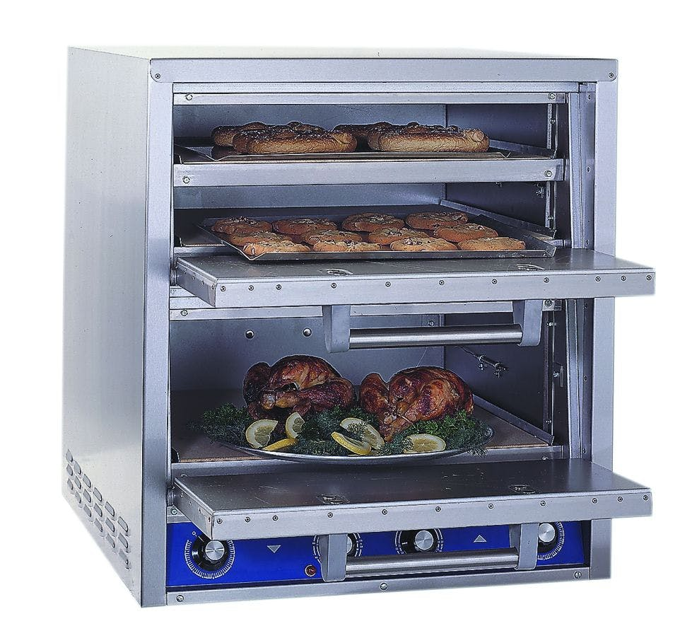 Bakers Pride P46-BL Brick-Lined Electric Deck Oven - sold by pizzaovens.com
