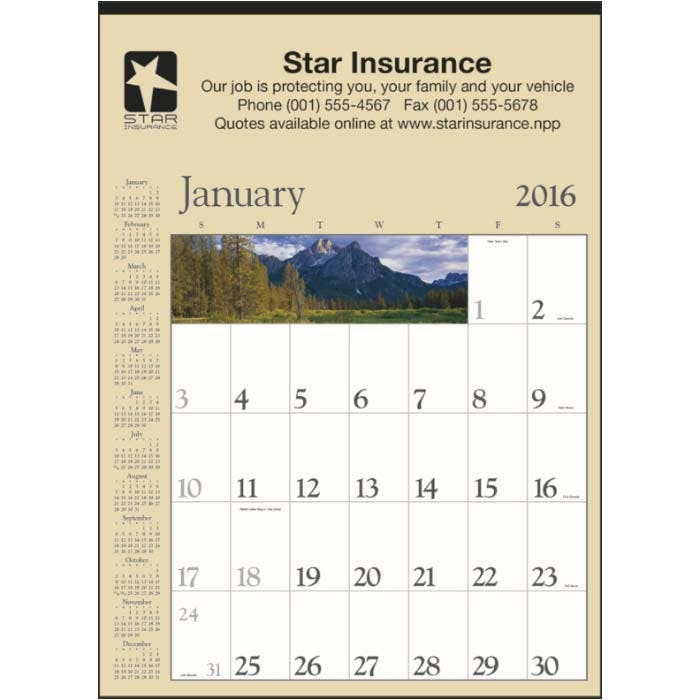 Norwood Promotional Products :: Product :: Decorator Memo (Tan) Custom calendar sold by Distrimatics, USA
