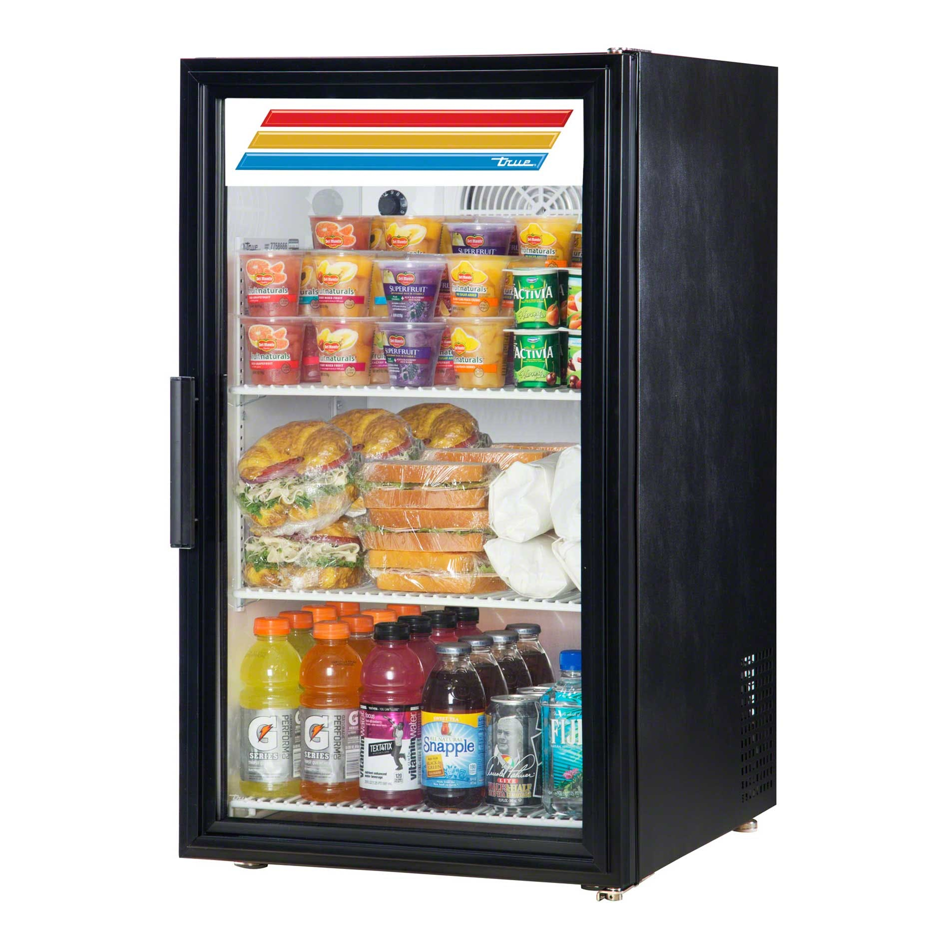 "True - GDM-6-LD 20"" Swing Door Countertop Merchandiser Refrigerator LED Commercial refrigerator sold by Food Service Warehouse"