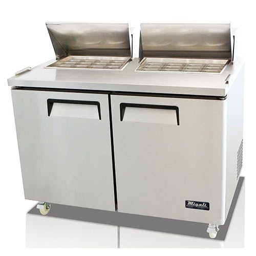 Migali C-SP60-24BT Two Door Prep Table Food prep table sold by Pizza Solutions