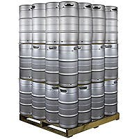 Kegco Pallet of 48 Kegs - 7.75 Gallon Commercial Keg with Drop-In D System Sankey Valve Keg sold by Beverage Factory