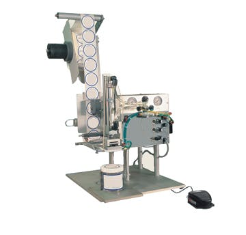 Semi Automatic Benchtop Tamp Labeler - Semi-Automatic Labeling Machines - sold by Inline Filling Systems