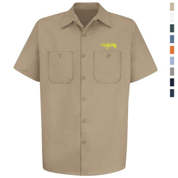 Wrinkle-Resistant Cotton Work Shirt Promotional shirt sold by MicrobrewMarketing.com