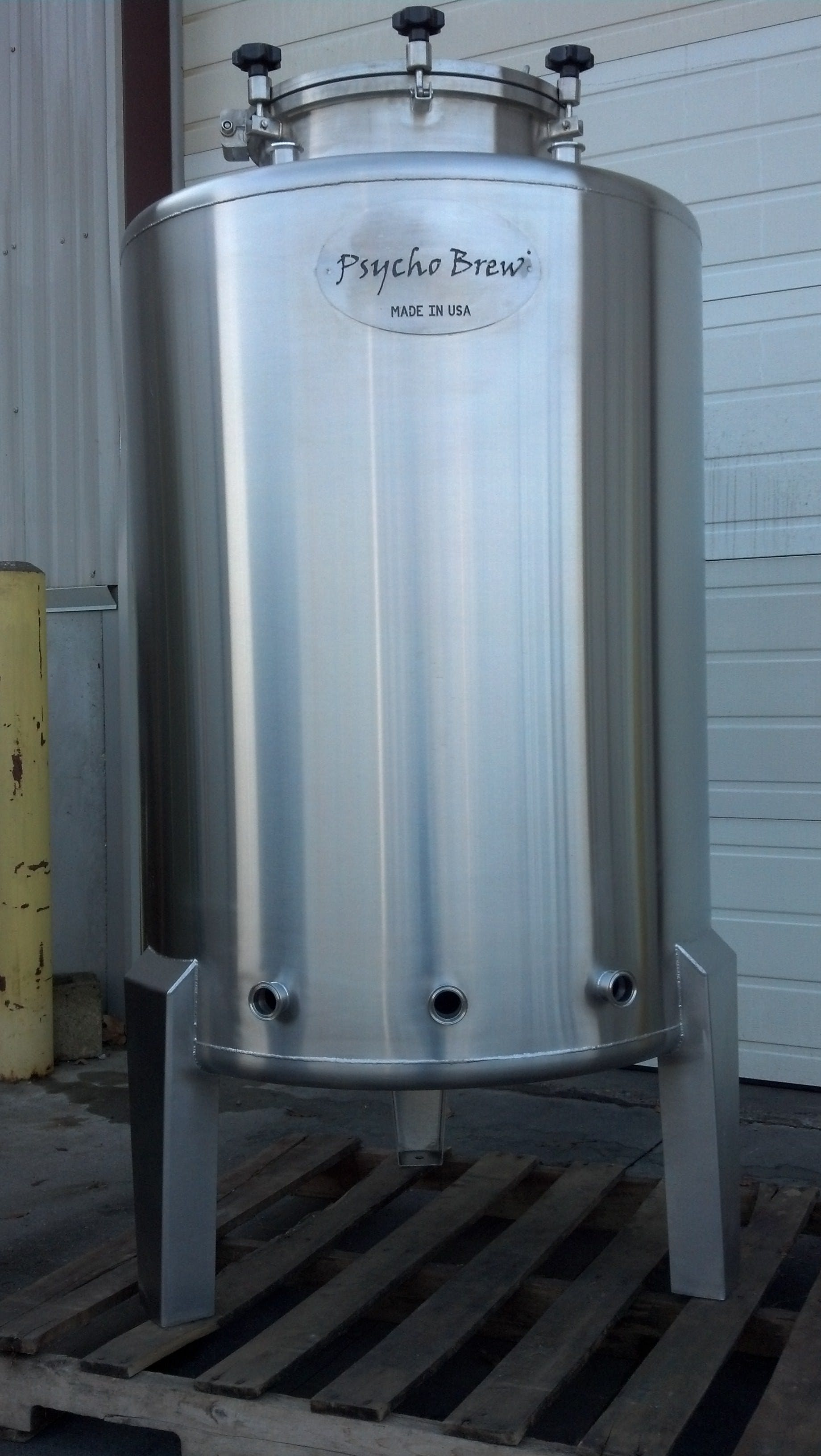 5 bbl Single Walled Brite Tank Bright tank sold by Psycho Brew