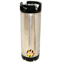 Used 5 Gallon Ball Lock Keg -  De-labeled, cleaned, and pressure tested. - Keg sold by All Safe Global, Inc.