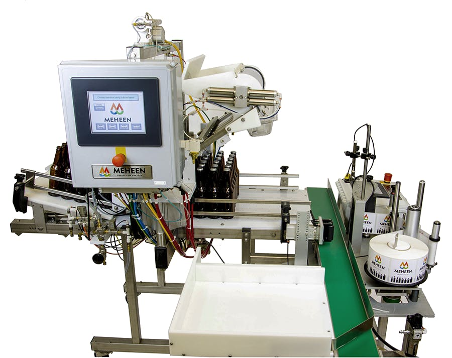 Craft Beverage Bottling and Labeling System Bottle filler sold by MSM Packaging Solutions