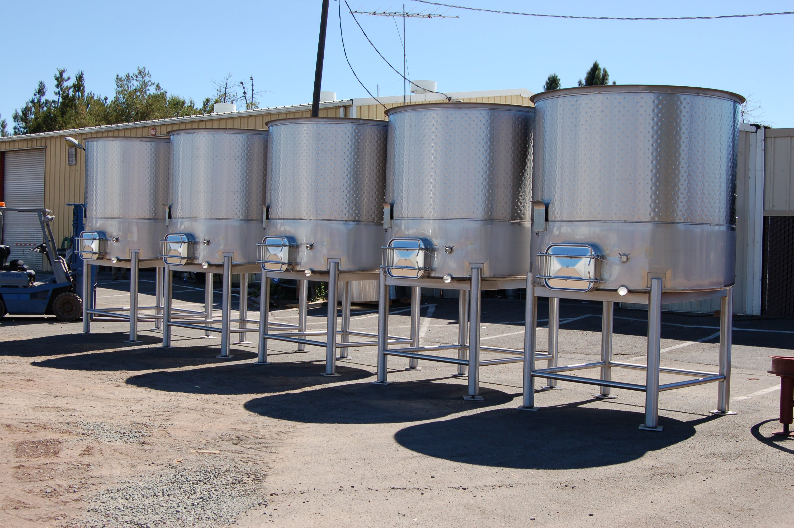Open top Wine Tank Wine tank sold by Wine Country Stainless Steel Tank Co