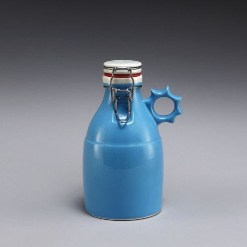 Sprocket Growlette - Gloss Blue 32oz Growler sold by Portland Growler Company