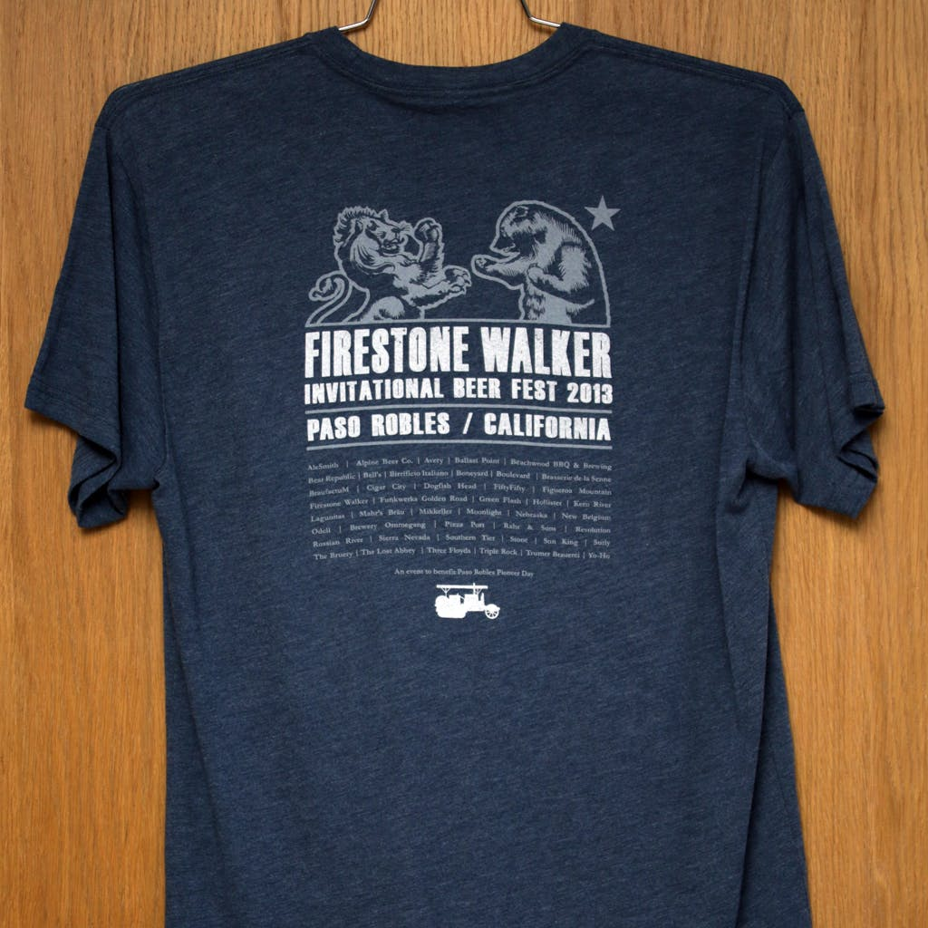 50/50 Tee - Firestone Walker - Invitational Beer Fest Promotional shirt sold by Brewery Outfitters
