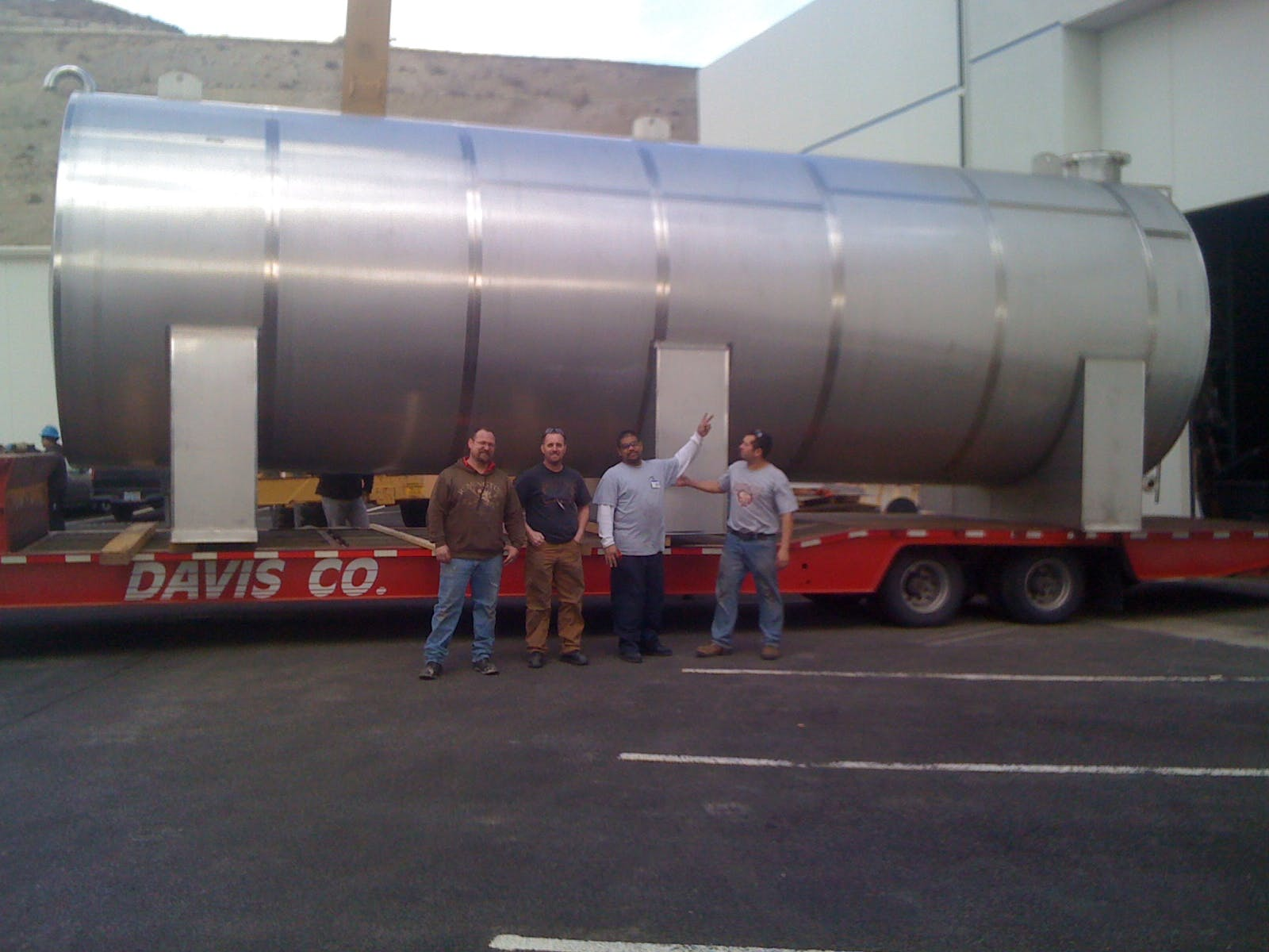 horizontal waste water holding tank 30K Waste water tank sold by Hood-EIC, LLC Tank Division