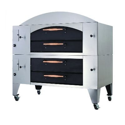 Standard Stainless Steel Finish - Bakers Pride Y-DSP Series Gas Display Deck Ovens - sold by pizzaovens.com