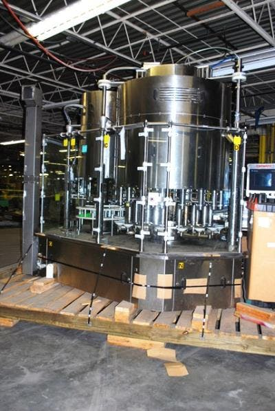 Capmatic model EKLIPS 18/6 stainless steel automatic liquid filler & capper - sold by Union Standard Equipment Co